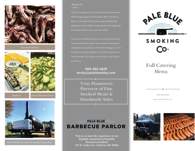 Catering Menu PDF Page 1