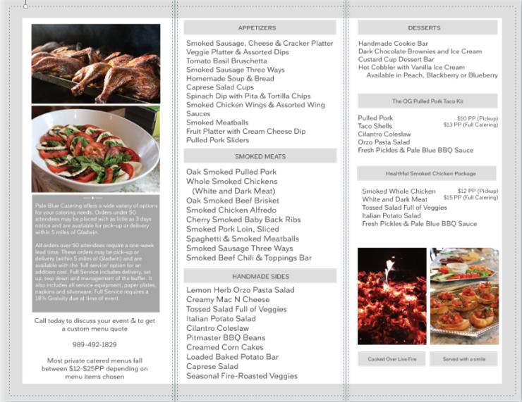 Catering Menu PDF Page 2